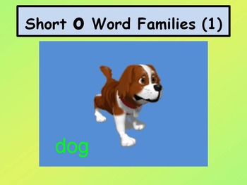 Short O Word Families 1 (With Animation)