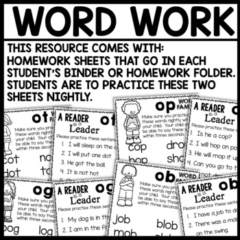 Short O Word Families