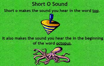 Short O Word Families Flipchart