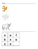 Short O Word Families-Build-A-Word