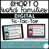 Short O Word Families Digital Distance Learning {Seesaw, G