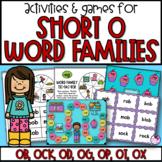Word Families Short O Games & Activities