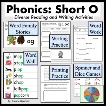Short O Word Families: Phonics and Writing Fundamentals