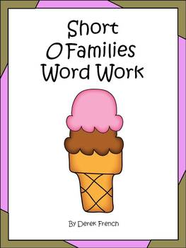 Short O Word Families Word Work