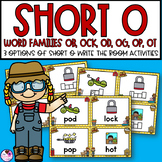 Short O Word Families Write the Room