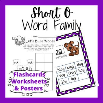 Short O Word Family Activities