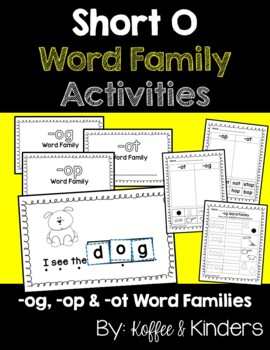 Short O Word Family Bundle