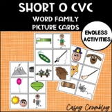 Short O Word Family CVC Picture Cards