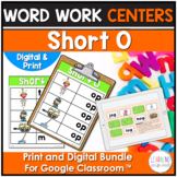 Short O Word Family Center Activities
