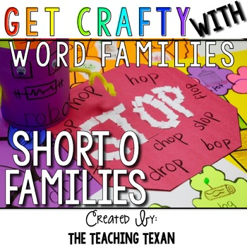 Short O Word Family Crafts