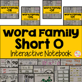 Short O Word Family Interactive Notebooks Bundle
