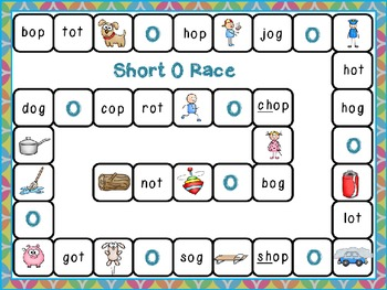 Short O Word Family Race