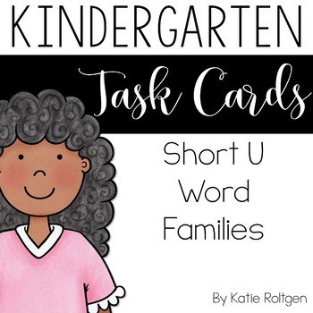 Short U Word Family Task Cards