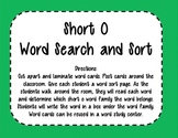 Short O Word Search and Sort