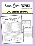 Short O Word Sort Worksheets