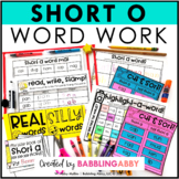 Short O Word Work Activities for Literacy Centers