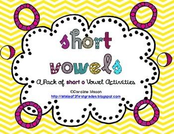 Short O Word Work Pack - No Prep!