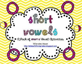 Short O Word Work Pack - No Prep!