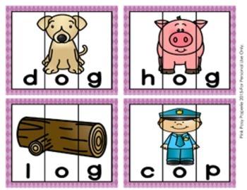 Short O Words CVC Puzzles