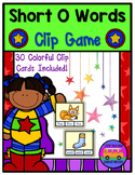 SHORT O Words Clip Game - Worksheets and EASEL Activities