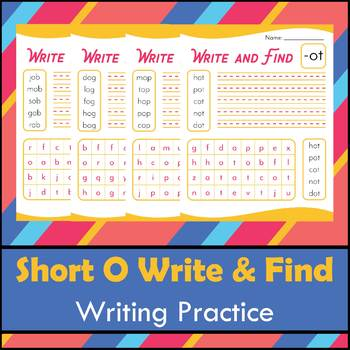 Short O Write and Find Practice