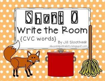 Short O Write the Room {CVC Words}