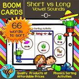 Short -O- and Long -O- Sorts | Boom Cards | Phonics Drag and Drop Sorts