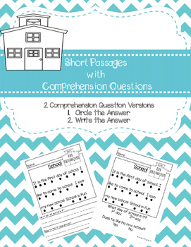 Short Passages with Comprehension Questions