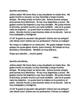 Short Pen Pal Letter