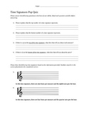 Short Pop Quiz on Time Signatures