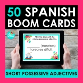 Short Possessive Adjectives in Spanish BOOM CARDS | Digita