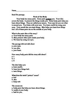 Short Reading Comprehension Passage