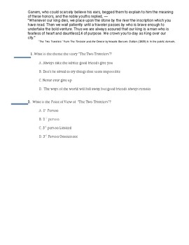 Short Readings with Standard and PARCC-Based Questions