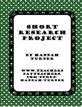 Short Research Project