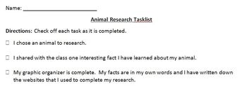 iPad: Short Research Project - Animals
