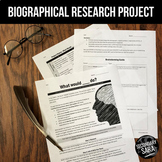 Short Biography Research Project for ELA or SS: What Would ____ Do?