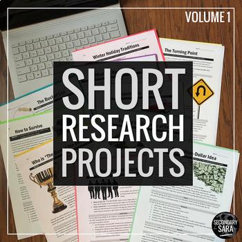 """Short Research Projects"" Ten-Project ELA Bundle: Volume I"