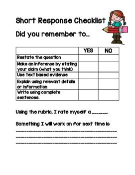 Short Response Checklist