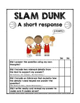 Short Response Checklist (Student Self-Assessment)