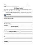 Short Response Graphic Organizer: Test Prep or Every Day use