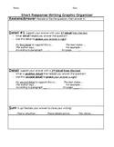 Short Response Graphic Organizer, NYS New York State ELA Test RADD(S)