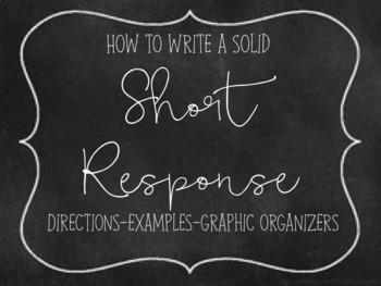 Short Response Writing Guide