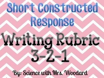 Short Response Writing Rubric 3-2-1