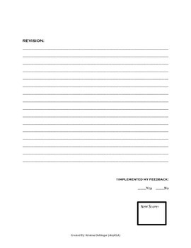 Short Response Writing and Revision Pages