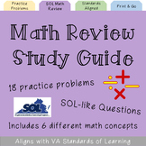 Short SOL Math Review Study Guide