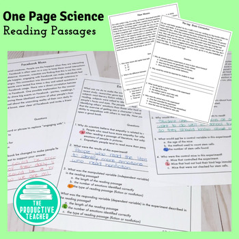 Short Science Reading Passages