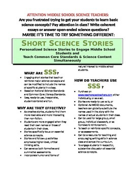 Science Literacy: SSS1 Happily Ever - Short Science Stories  - Rocks & Minerals