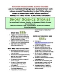 Science Literacy: SSS1 Happily Ever - Short Science Storie