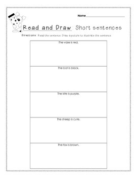 Short Sentences *Read & Draw* #2