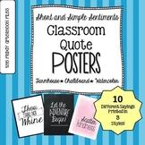 Short & Simple Sentiments Classroom Posters